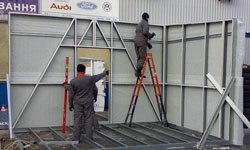 Строительство торговых павильонов в Белово БМЗ